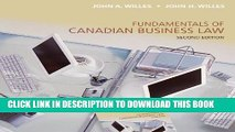 [Read PDF] Fundamentals of Canadian Business Law, Second Edition Ebook Online