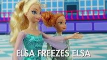 Elsa Freezes Elsa, not Hans, with Frozen Anna. DisneyToysFan