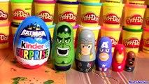 Kinder Batman Stacking Cups Surprise Nesting Toys Disney Avengers Hulk Thor Captain-America IronMan