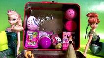 Hello Kitty Lunch Box Surprise Eggs Disney Frozen Anna Elsa, Glitzi Globes Fashems Shopkins Toys