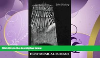 Popular Book How Musical Is Man? (Jessie and John Danz Lectures)