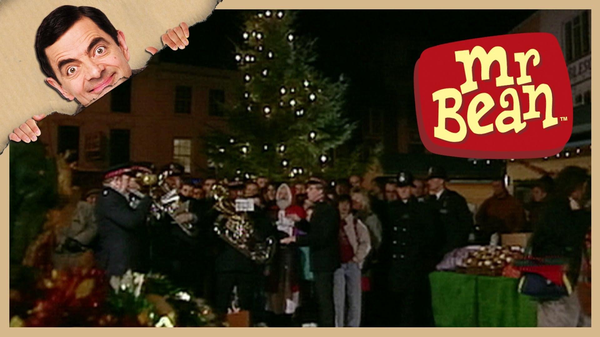 Mr Bean Christmas.Mr Bean Christmas Tree