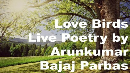 Love Birds |  Live Poetry | Arunkumar Bajaj Parbas