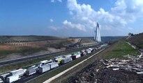 Yavuz Sultan Selim Köprüsü'nde trafik felç: 5 kilometrelik araç kuyruğu oluştu