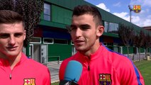 """FCB Masia: declaracions d'Eric Montes i d'Oriol Rey a """"L'Hora B"""" abans del partit entre el Juvenil A i l'Espanyol"""