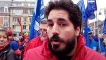 Wavre : la manifestation des syndicats des services publics