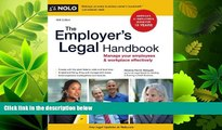 FAVORITE BOOK  The Employer s Legal Handbook: Manage Your Employees   Workplace Effectively