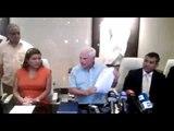 Conferencia de prensa de expresidente Ricardo Martinelli/Pinchazos