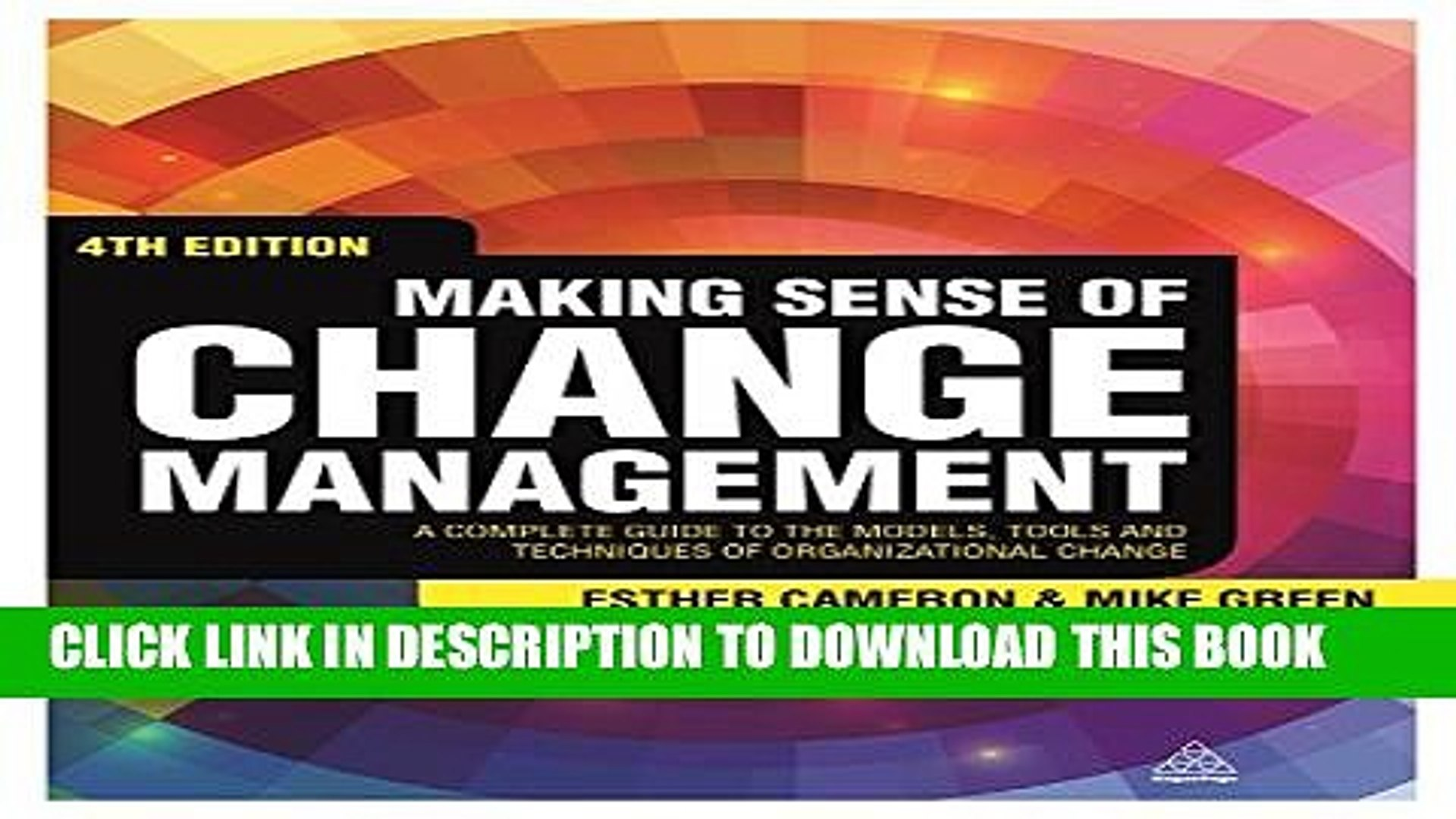 New Book Making Sense of Change Management: A Complete Guide to the Models, Tools and Techniques