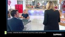 C à Vous: Christine Bravo offre des sous-vêtements à Anne-Sophie Lapix (Vidéo)