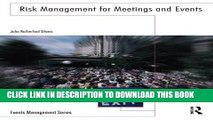 New Book Risk Management for Meetings and Events (Events Management)