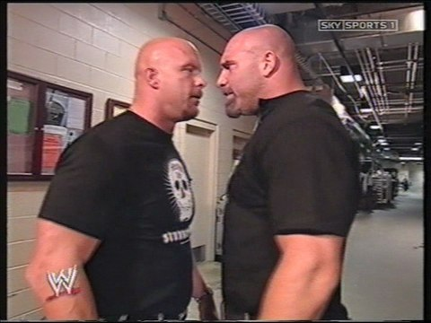 Goldberg & Austin backstage (2003-05-12)