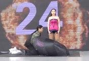 Une femme bat le record du monde de changement de vêtements en 1 minute