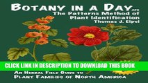 [PDF] Botany in a Day: The Patterns Method of Plant Identification [Online Books]