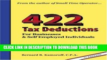 New Book 422 Tax Deductions for Businesses and Self Employed Individuals (475 Tax Deductions for