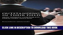 Collection Book Outstanding in Their Field: How Women Corporate Directors Succeed