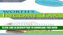 New Book Worth s Income Tax Guide for Ministers: For Preparing 2009 Tax Returns