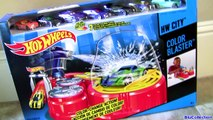 Color Changing Hot Wheels Color Blaster Playset with Disney Pixar Cars Color Changers