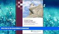 READ THE NEW BOOK Guide to FAR Contract Clauses: Detailed Compliance Information for Government