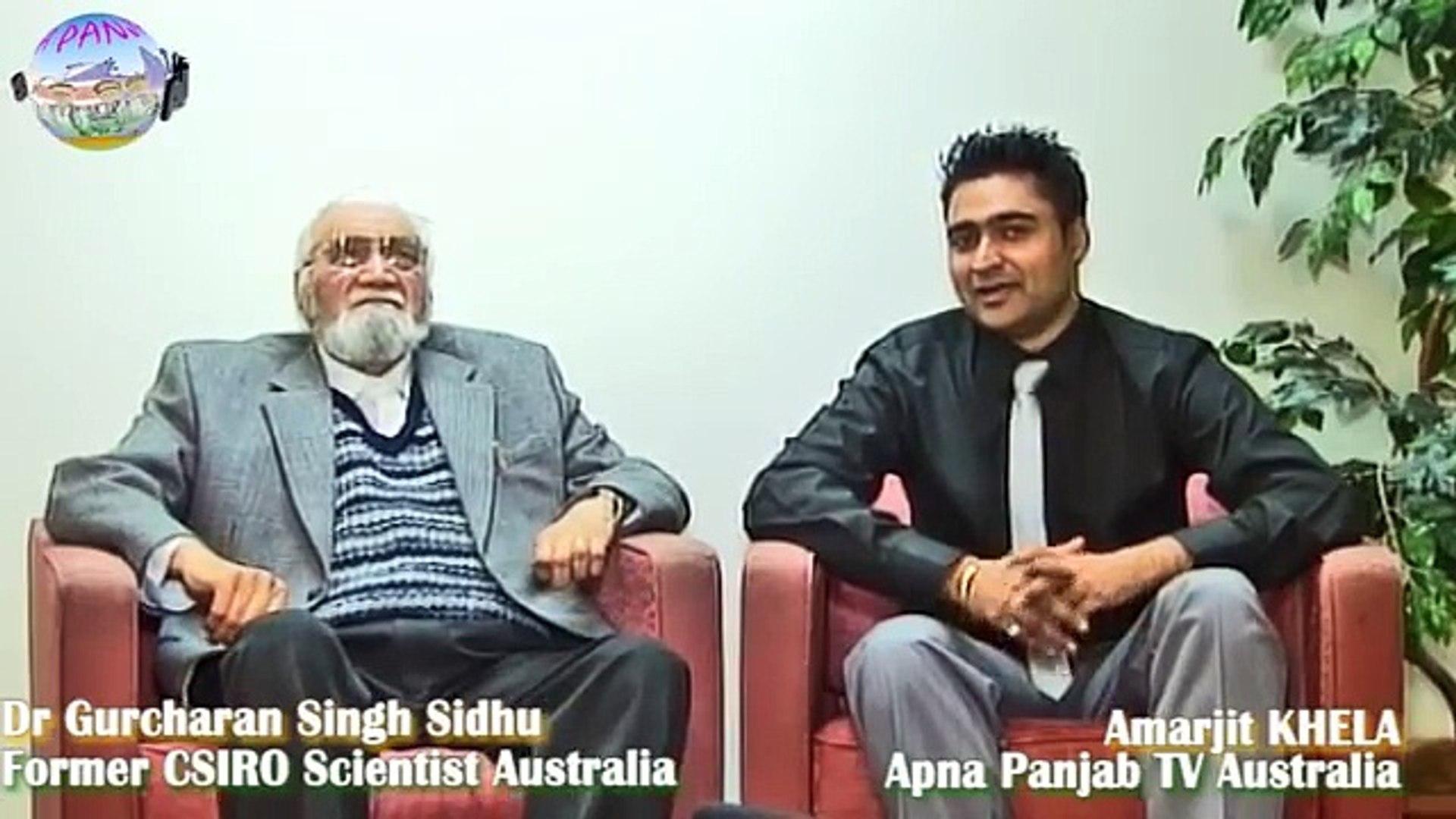 Dr  Gurcharan Sidhu sharing memories of 1947 India Pak partition with Apna Panjab TV