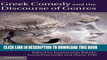 [PDF] Greek Comedy and the Discourse of Genres Popular Online