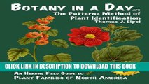 [PDF] Botany in a Day: The Patterns Method of Plant Identification Full Collection