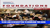 New Book Foundations of Restaurant Management   Culinary Arts: Level 1