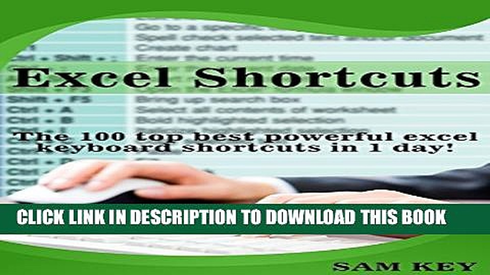 New Book Excel Shortcuts: The 100 Top Best Powerful Excel Keyboard  Shortcuts in 1 Day! (Excel,
