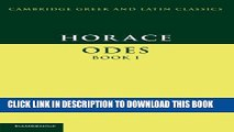 [PDF] Horace: Odes Book I (Cambridge Greek and Latin Classics) Full Collection