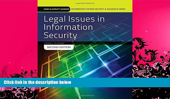 FAVORITE BOOK  Legal Issues In Information Security (Jones   Bartlett Learning Information