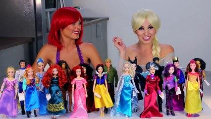 Elsa vs Ariel Eat It or Wear It Challenge Princesses in Real Life.