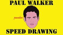 Paul Walker Speed Drawing