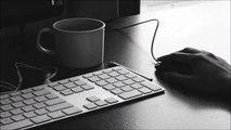 Bureau, clavier et des sons de la souris