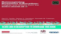 [PDF] Reimagining Business Education: Insights and Actions from the Business Education Jam Popular