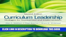 New Book Curriculum Leadership: Strategies for Development and Implementation