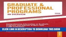 [Read PDF] Grad Guides Book 1:  Grad/Prof Progs Overvw 2009 (Peterson s Graduate   Professional