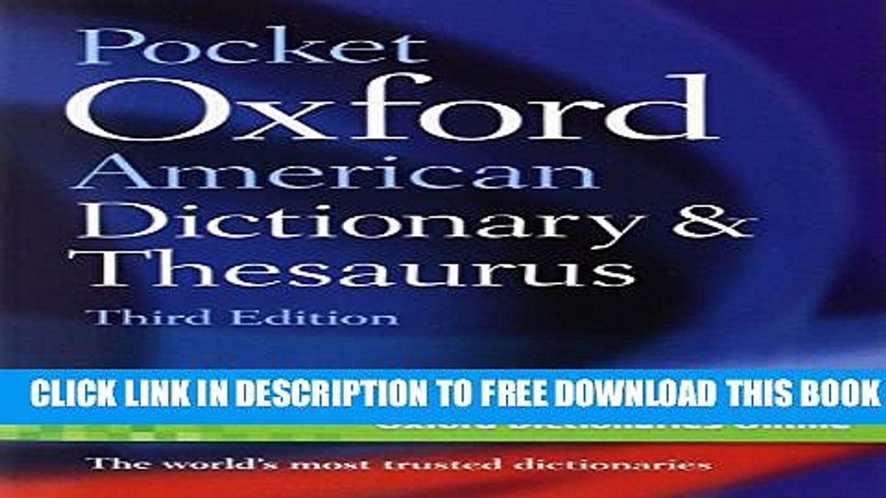 [PDF] Pocket Oxford American Dictionary Thesaurus Full Online