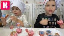 Щенячий патруль и Шопкинс набор для выпечки Cupcake kit У Кати и Макса Печем кексы и играем в игру Paw Patrol