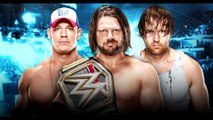 John Cena Vs AJ Styles Vs Dean Ambrose No Mercy 2016 | WWE World Championship