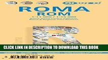 Collection Book Laminated Rome City Streets Map by Borch (English, Spanish, French, Italian and