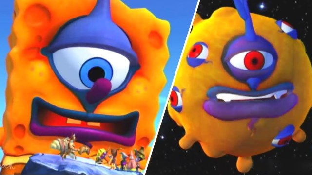 SpongeBob SquarePants & Nicktoons: Globs of Doom All Bosses   Boss Battles (Wii, PS2)