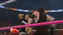 WWE Brock Lesnar breaks Mark Henry- Masked Kane Returns