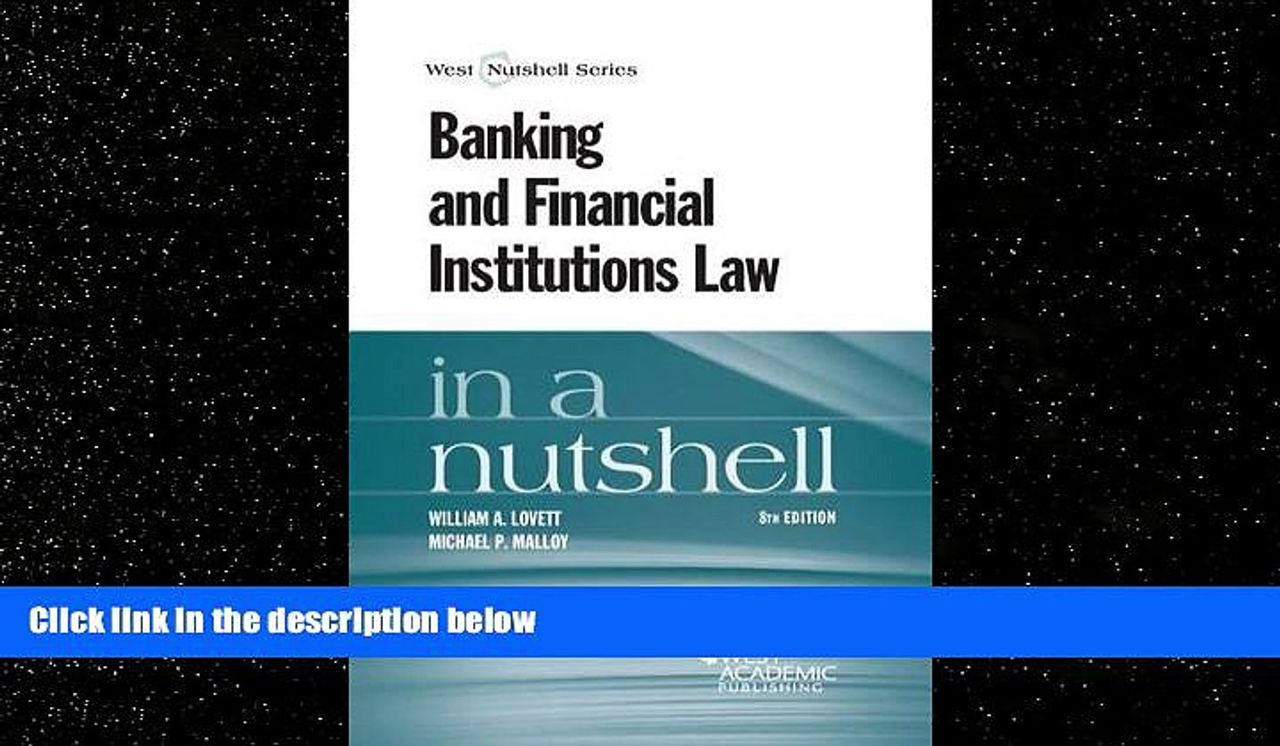 book online  Banking and Financial Institutions Law in a Nutshell