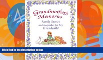Books to Read  Grandmother s Memories: Family Stories and Keepsakes for My Grandchild  Best Seller