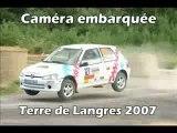 Caméra embarquée rallye terre de Langres Jean-Pierre Vital