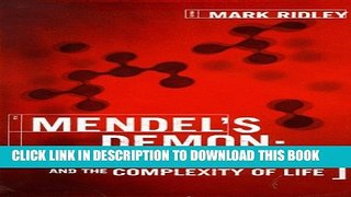 [PDF] Mendel s Demon: Gene Justice and the Complexity of Life Full Collection