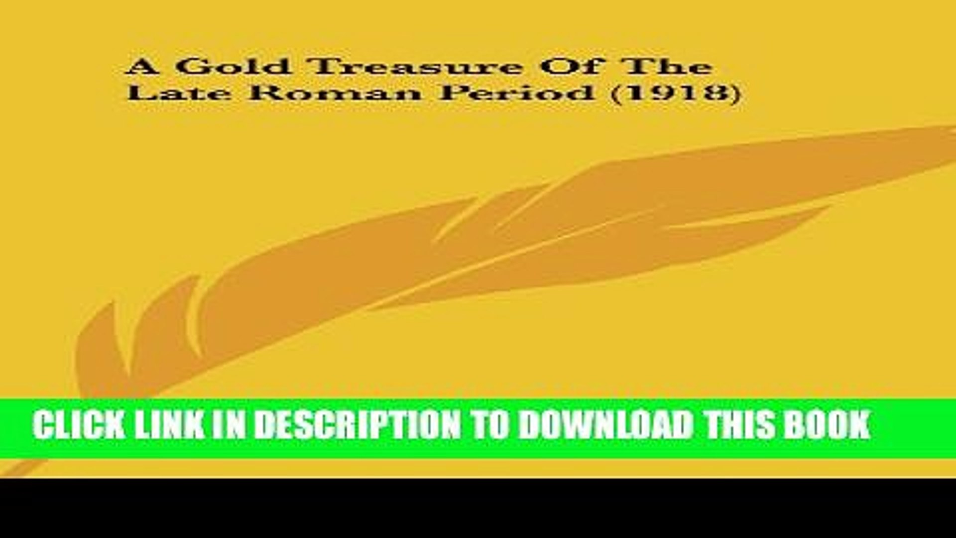 [PDF] A Gold Treasure Of The Late Roman Period (1918) Popular Colection