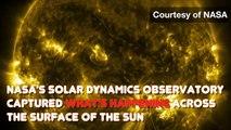 Nasa captures incredible 4k images of the Sun - BBC News - BBC News