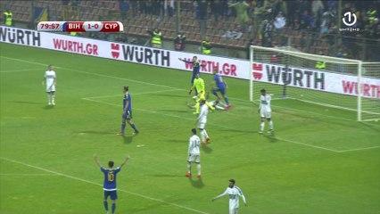 Drugi pogodak Edina Džeke protiv Kipra (80. minut)