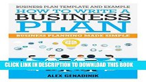 [PDF] Business plan template and example: how to write a business plan: Business planning made